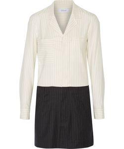 10 Crosby Derek Lam | 10 Crosby By Derek Lam Pinstriped Wool-Blend Mini Shirt Dress