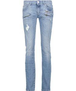 Pierre Balmain | Distressed Low-Rise Skinny Jeans