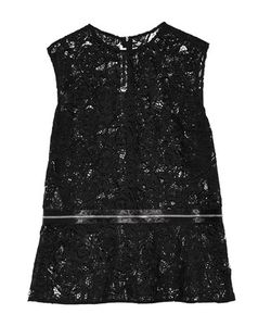 McQ | Zip-Detailed Guipure Lace Peplum Top