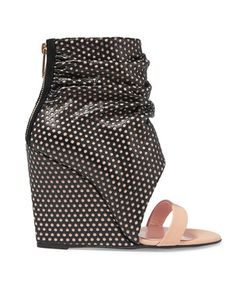 Jérôme Dreyfuss | Ella Cale Perforated Leather Wedge Sandals