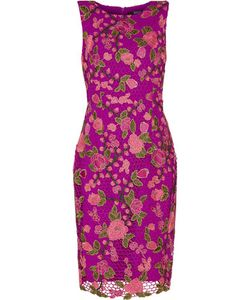 Badgley Mischka   Layered Embroidered Lace Jersey Dress