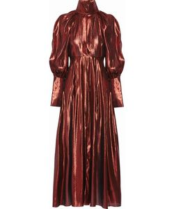Ellery | The Contained Silk-Blend Lamé Midi Dress