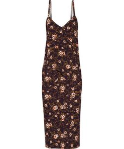 Rochas | Draped Print Cady Dress