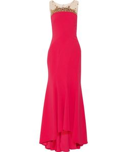 Marchesa Notte | Embellished Crepe Gown