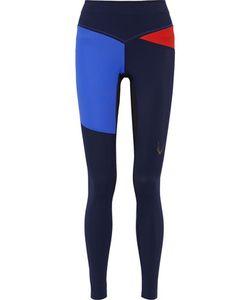 LUCAS HUGH | Rio Color-Block Mesh-Paneled Stretch Leggings
