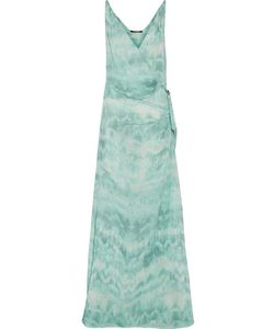 Roberto Cavalli | Gathered Printed Silk Crepe De Chine Gown
