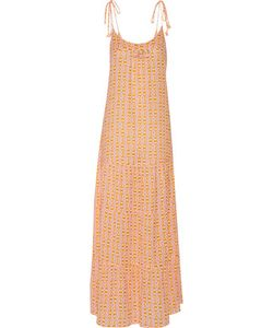Figue | Brielle Embellished Printed Cotton-Blend Gauze Maxi Dress