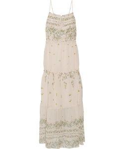Sea | Tiered Print Cotton And Silk-Blend Midi Dress