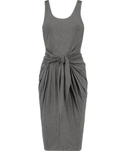 L'agence | Ivy Tie-Front Stretch-Jersey Dress