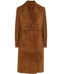 Burberry | Fringed Suede Trench Coat