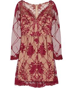 Marchesa Notte | Embroide Tulle Mini Dress