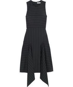 Dion Lee | Asymmetric Pinstriped Stretch-Cady Dress