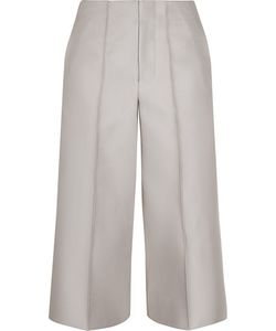 Co | Cropped Faille Wide-Leg Pants