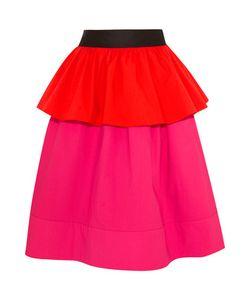 Isa Arfen | Ruffled Color-Block Stretch-Cotton Poplin Skirt