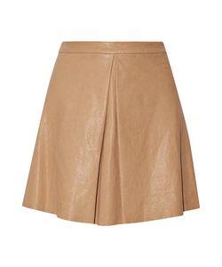 Alice + Olivia | Russo Pleated Leather Mini Skirt
