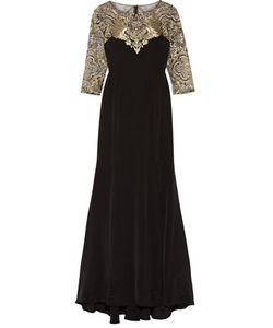 Marchesa Notte | Embroidered Stretch-Silk And Tulle Gown