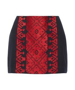 Figue   Rikka Embroidered Cotton Mini Skirt