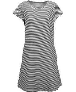 Current/Elliott | The Beach Tee Striped Cotton-Blend Mini Dress Midnight