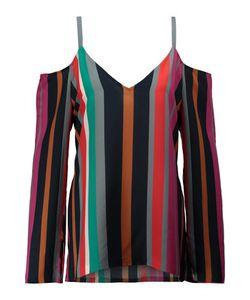 Tanya Taylor | Pippa Cutout Striped Washed-Silk Blouse