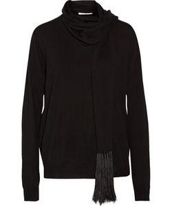 Sandro | Silivia Scarf-Effect Merino Wool Sweater