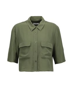 Equipment | Cropped Washed-Silk Shirt