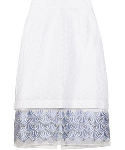 Markus Lupfer | Starla Embellished Broderie Anglaise Skirt