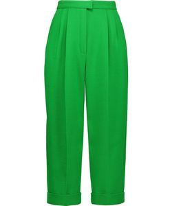 Delpozo   Cropped Wool-Blend Crepe Tapered Pants