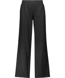 Norma Kamali | Cotton-Blend Wide-Leg Track Pants