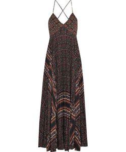 A.L.C.   A.L.C. Katia Pleated Printed Silk Crepe De Chine Maxi Dress