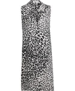 Equipment | Mina Leopard-Print Washed-Silk Mini Dress