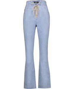 Just Cavalli | Printed Denim Straight-Leg Pants