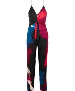Diane von Furstenberg | Rylen Twist-Front Printed Silk-Blend Jumpsuit