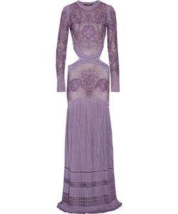 Roberto Cavalli   Cutout Macramé Gown
