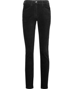 3X1 | W3 Channel Cotton-Blend Velvet Skinny Pants