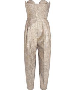 Delpozo | Strapless Tweed Jumpsuit