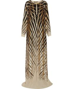 Roberto Cavalli   Sequined Silk-Chiffon Gown