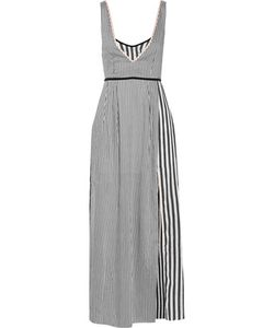 La Ligne | Layered Striped Crepe De Chine Maxi Dress