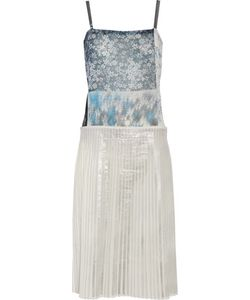 Mm6 Maison Margiela | Printed Chiffon And Plissé Cotton-Blend Dress