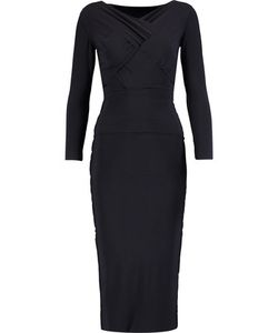 Norma Kamali | Cross-Front Stretch-Jersey Midi Dress