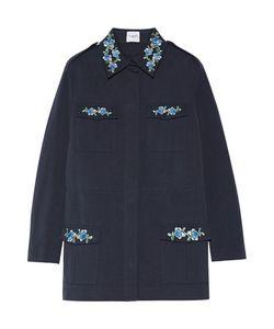 Vilshenko   Dawn Embroidered Cotton-Gabardine Jacket