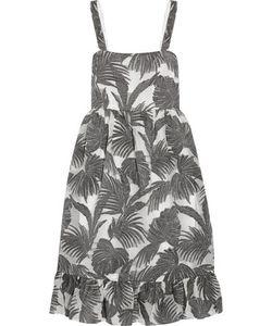 Co | Ruffled Metallic Jacquard Dress Charal