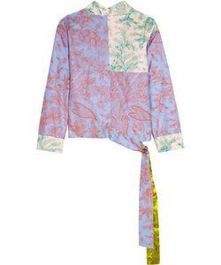 Jonathan Saunders | Helen Printed Silk-Twill Wrap Top