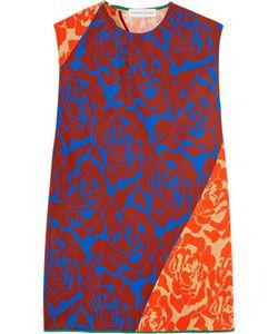 Jonathan Saunders | Elisa Paneled Floral-Print Crepe Top