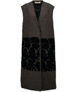 Marni   Velvet-Appliqueacuted Wool Vest