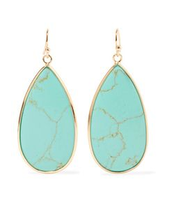 Kenneth Jay Lane | Plated Stone Earrings