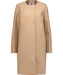 Mm6 Maison Margiela | Textured Wool-Blend Coat