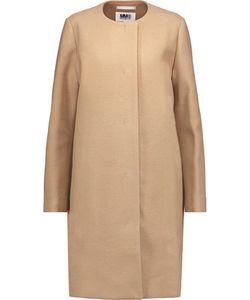 Mm6 Maison Margiela   Textured Wool-Blend Coat