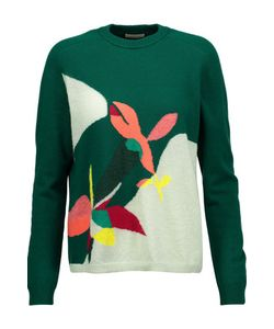 Delpozo   Jacquard-Knit Wool-Blend Sweater