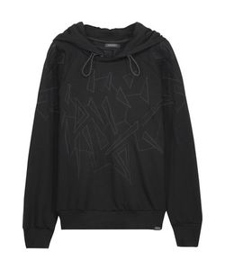 Koral   Vista Embroidered Mesh-Trimmed Stretch-Jersey Hooded Sweatshirt