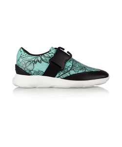 Christopher Kane | Lace-Print Leather Sneakers